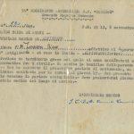 Il certificato sanitario firmato l'8 settembre 1943
